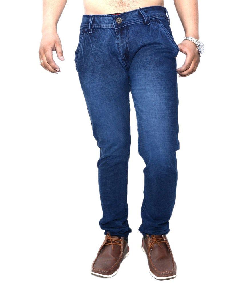 Nation Mania Great Blue Basics Jeans For Men