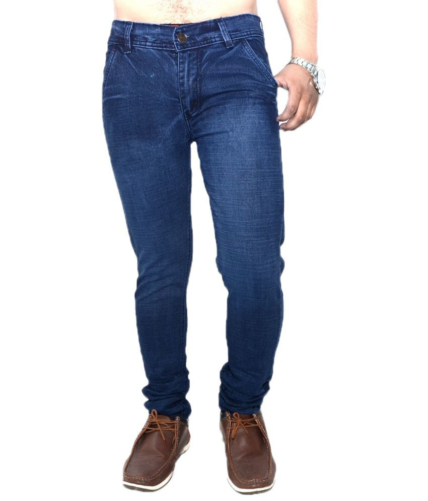 Nation Mania Sassy Navy Blue Basics Jeans For Men
