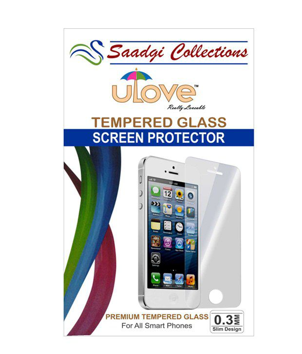 Apple Iphone 4G/4S (Pack 1) Tempered Glass Screen Guard by Saadgi Collections
