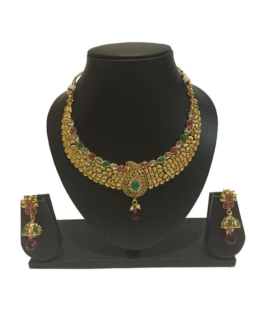 Star Gold Creation Antique Wedding Necklace Set