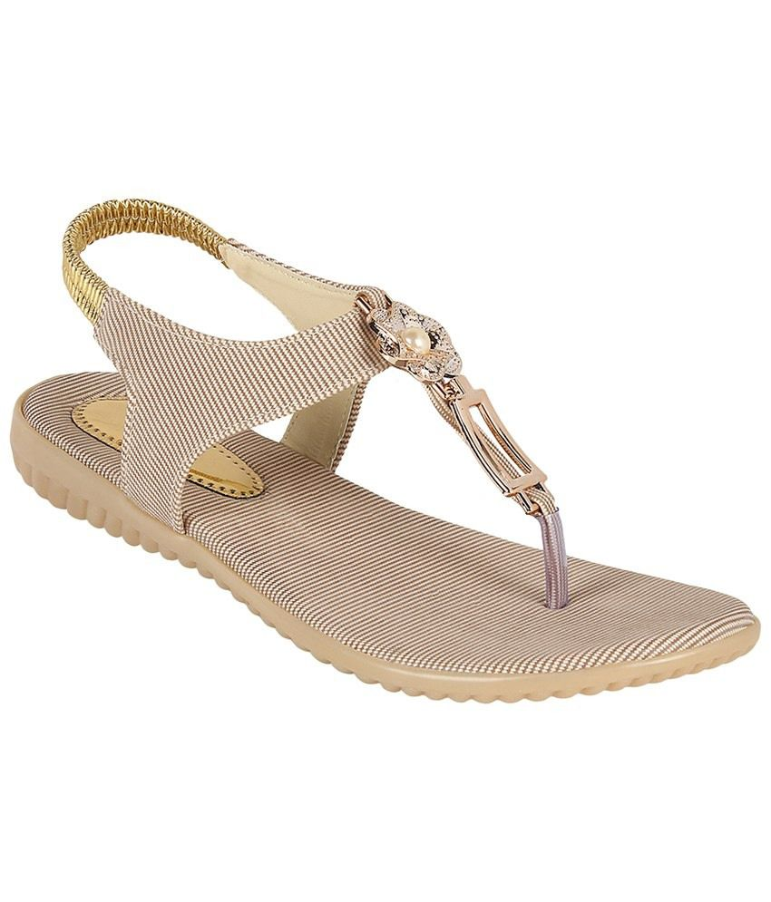 Stylish Step Beige Faux Leather Casual Flat Slip-Ons