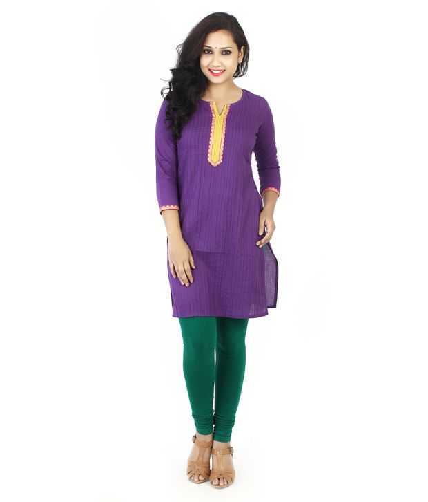 Taaga Purple Cotton Kurti