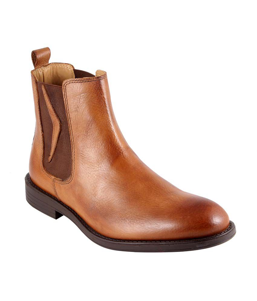 Tred Flex Tan Leather Slip-On Men Boots