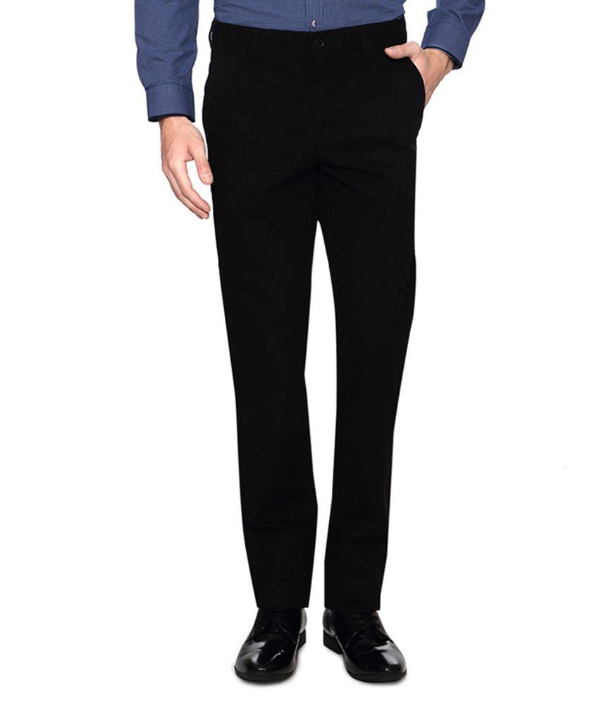 Van Heusen Black Slim Fit Trousers