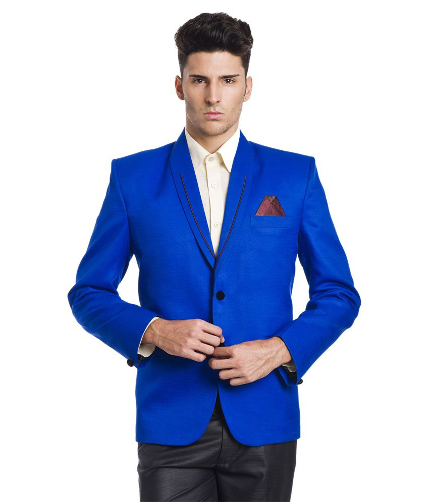 Wintage Festive 2-Button Blue Blazer
