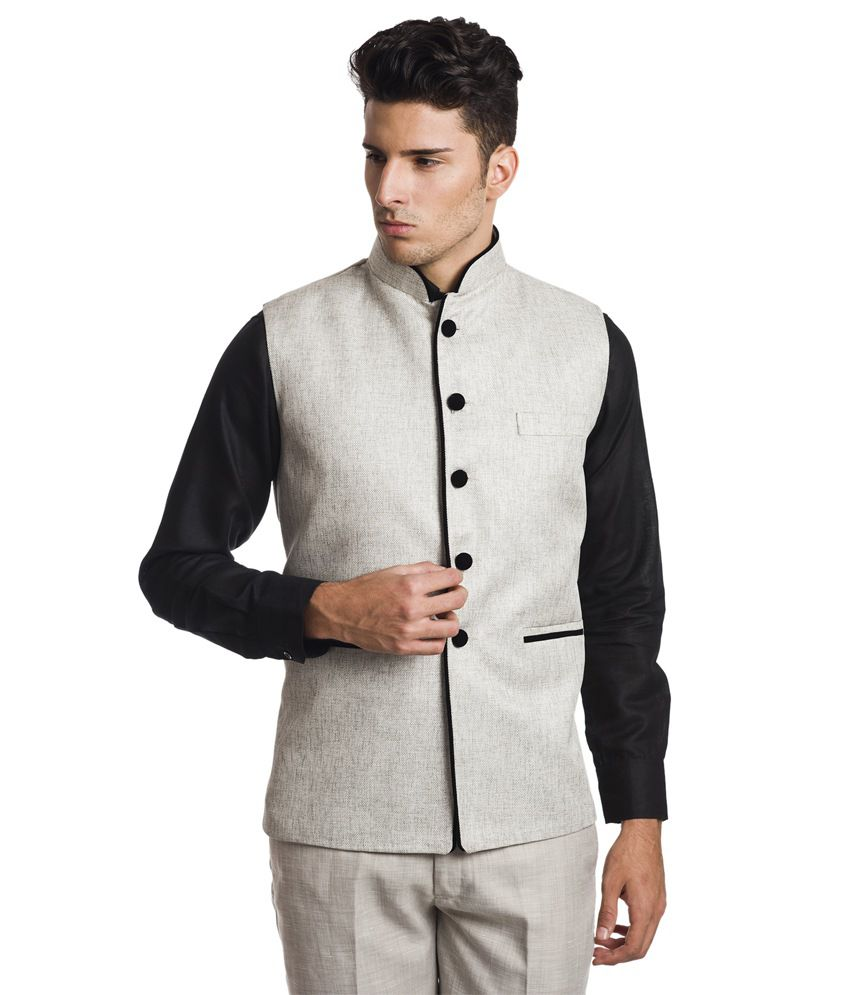 Wintage Princely Silver Waistcoat