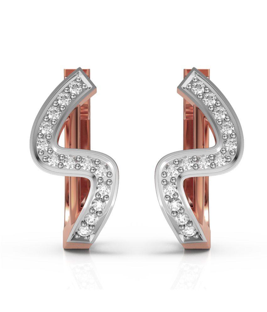 Charu Jewels 18kt Gold Diamonds Studs Earring