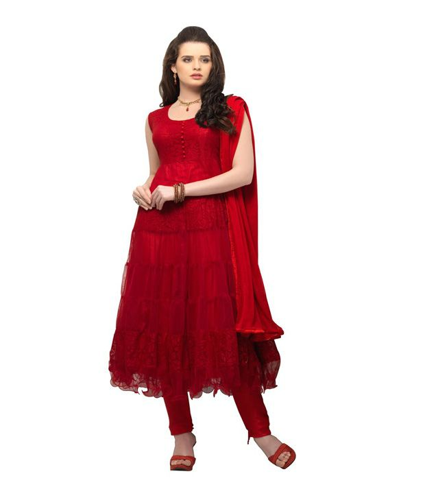 D Wine Red Cotton Unstitched Dress Material
