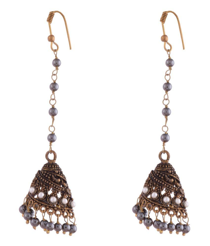 Ganapathy Gems Multicolor Alloy Jhumki