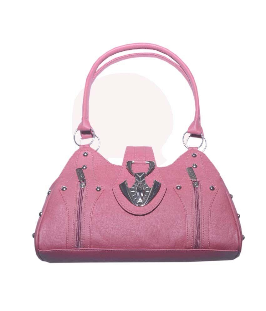 Shri Krishna Bag Co. Pink Magnet Button Shoulder Bag