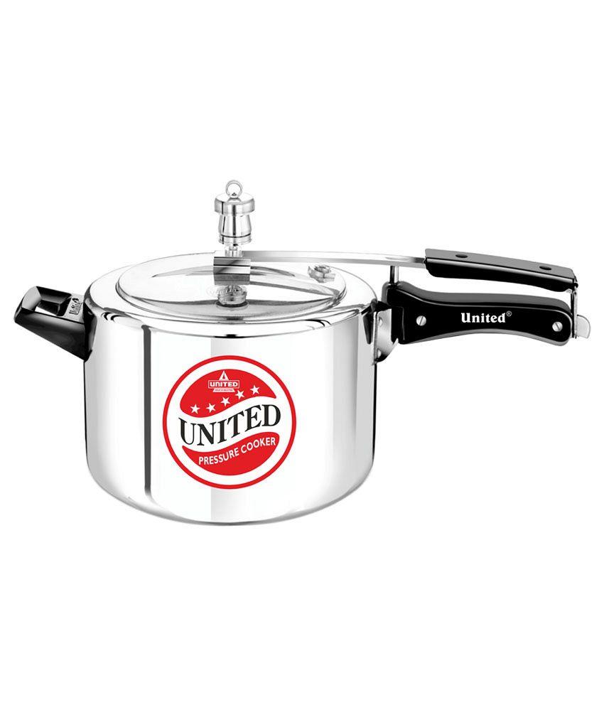 United Aluminium 6.5 L Pressure Cooker (Inner Lid)