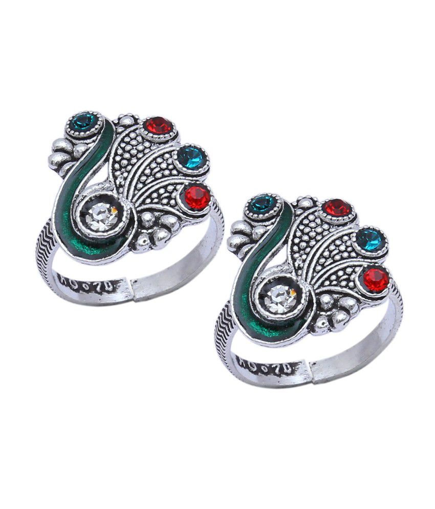 Aman Party Wear Silver Toe Ring