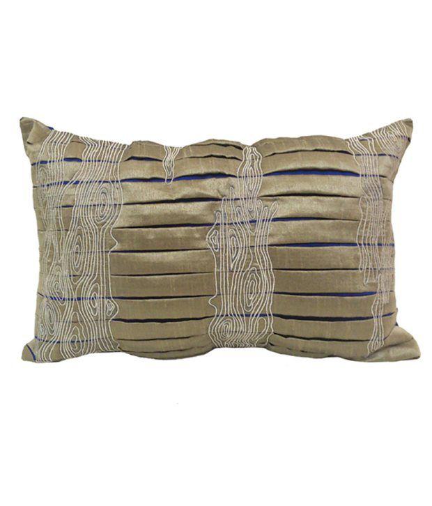 Jypore Bazaar Gray Blends Pleats Cushion Cover