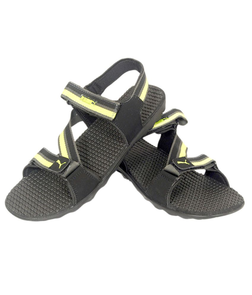 Puma black velcro sandals - Puma Black Floater Sandals Puma Black Floater Sandals
