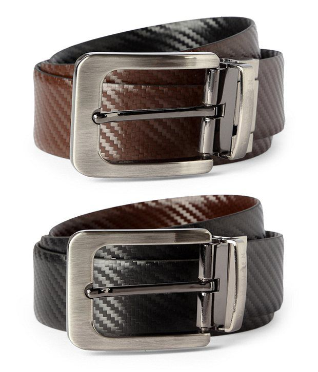 Van Heusen Black Casual Reversible Belt