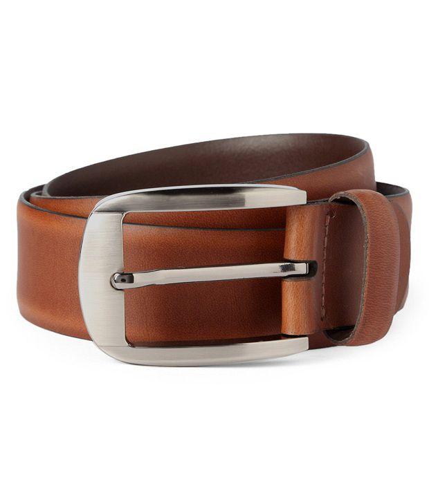 Van Heusen Brown Formal Leather Belt