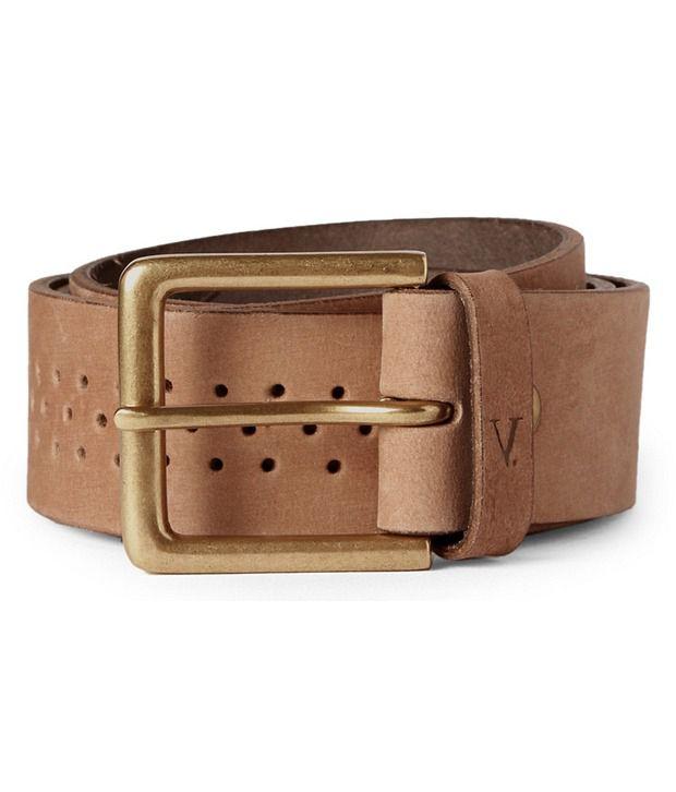 Van Heusen Brown Leather Casual Belt