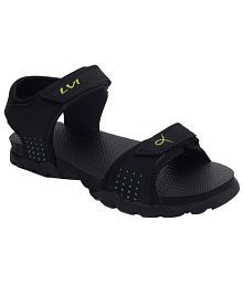 Lvi Black Nubuck Sandals