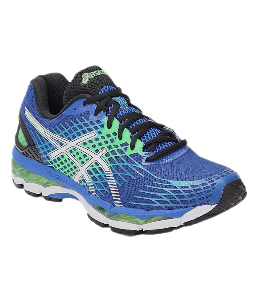 sale retailer 22aad 0d9a8 Asics Gel Nimbus 17 Blue Running Shoes