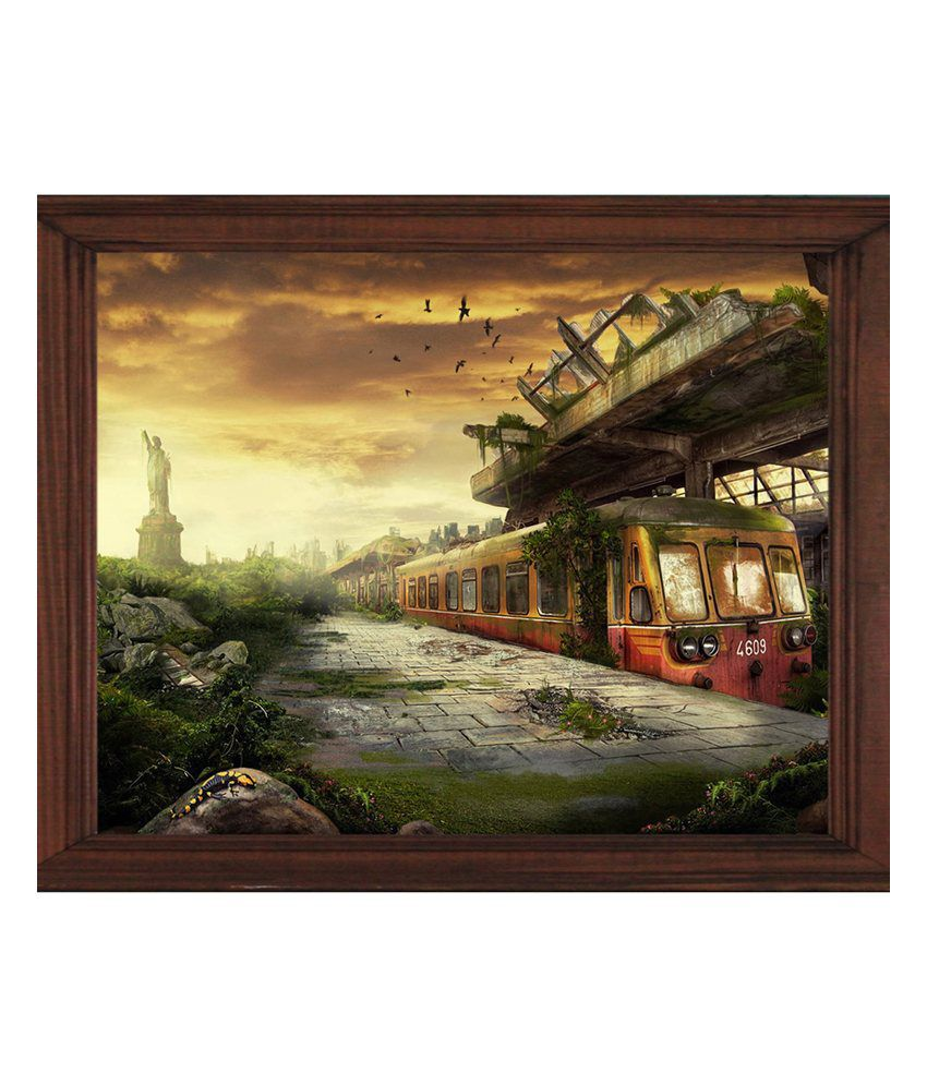 Sleepnature Canvas City Reck Painting without Frame