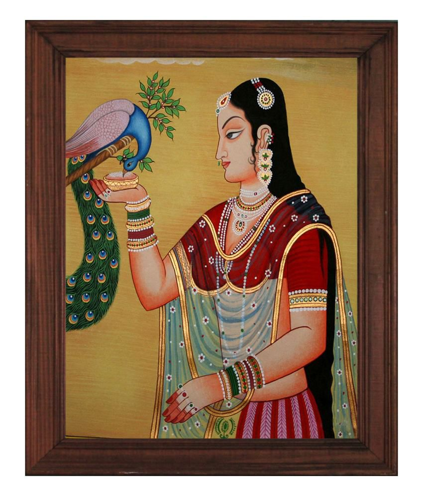 Sleepnature Canvas Indian Queen Painting without Frame