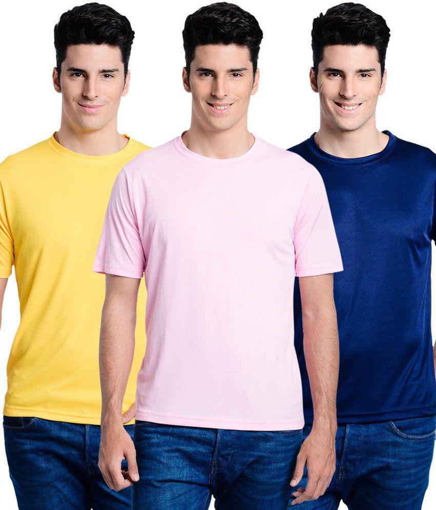 Superjoy Round Neck Basic T-Shirts - Set Of 3