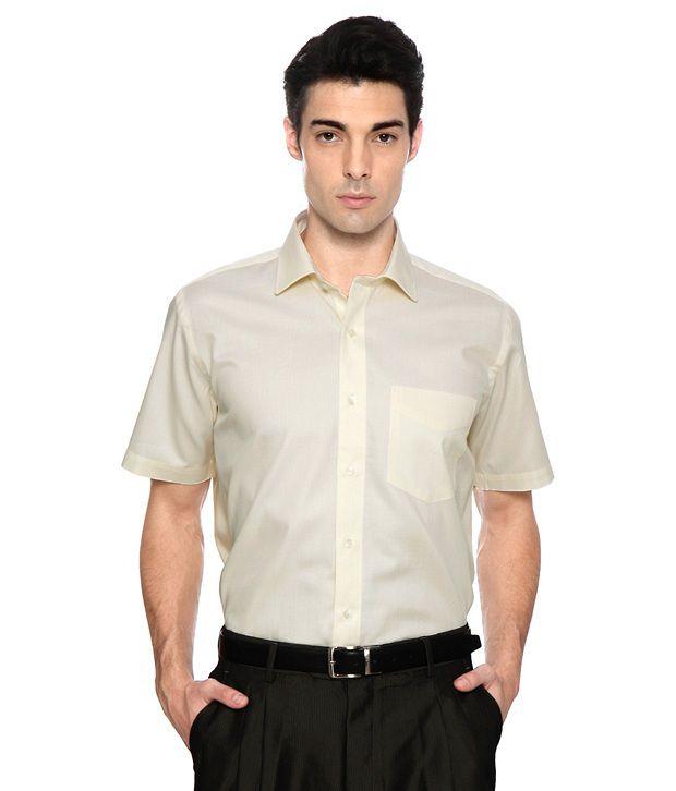 Van heusen cream regular fit shirt buy van heusen cream for Van heusen men s regular fit pincord dress shirt