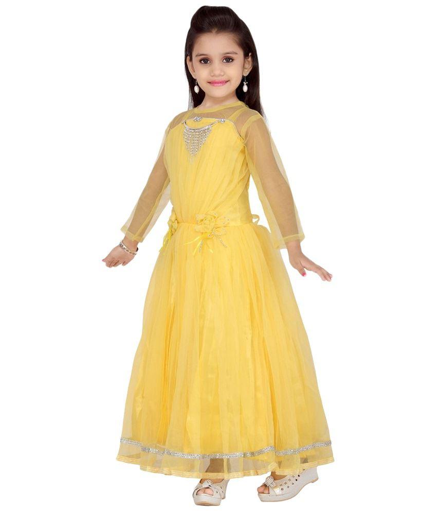 Aarika Attractive Yellow Party Wear Gown For Kids Buy Aarika