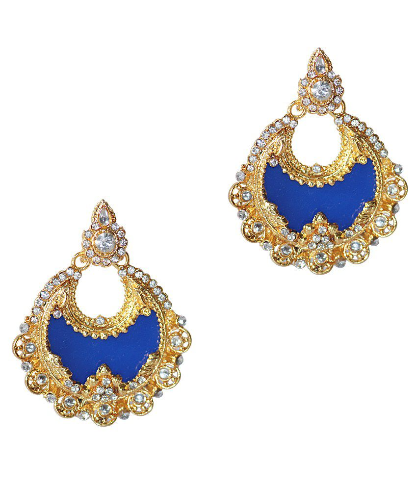 Grand Jewels Blue Alloy Stud Earrings