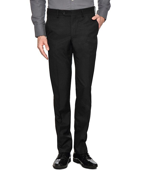 Van Heusen Black Fitted Trousers