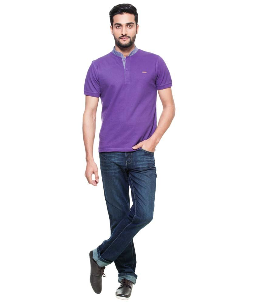 261c3593 Zovi Stylish Purple Henley T Shirt For Men - Buy Zovi Stylish Purple Henley  T Shirt For Men Online at Low Price - Snapdeal.com
