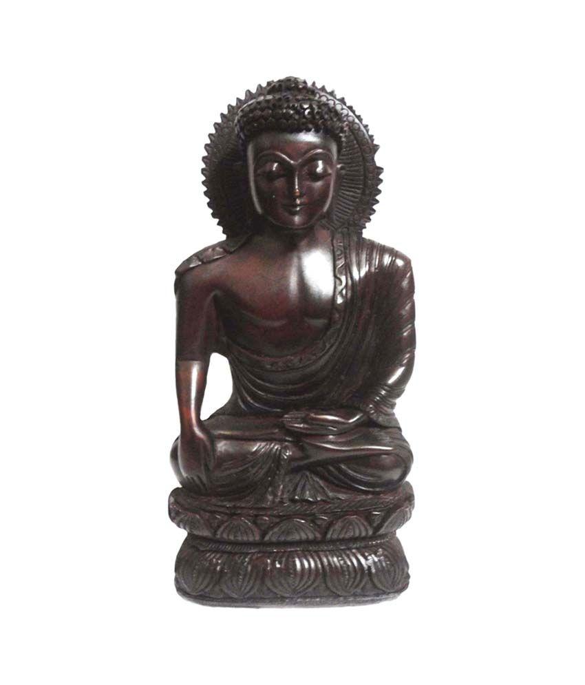 Craft Store India Resin Hand Made Buddha Idol 10x5