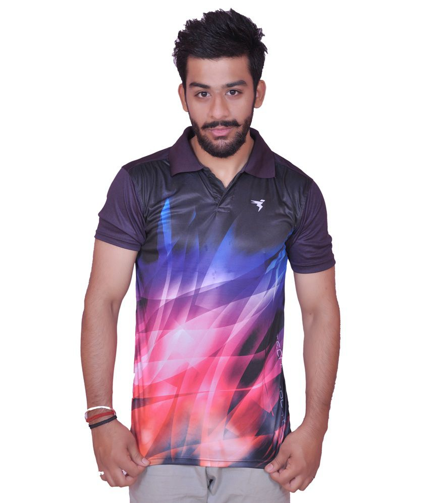 Multicolour Polyester Sports T Shirt
