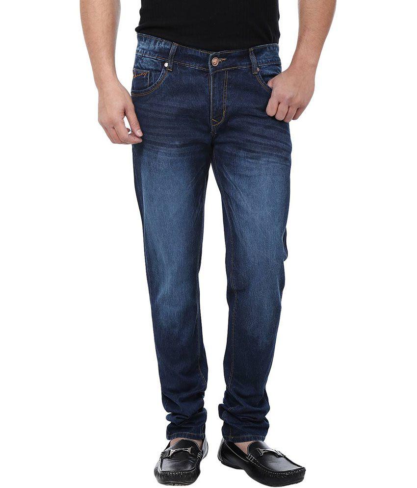 Adhaans Stylish Blue Regular Fit Jeans