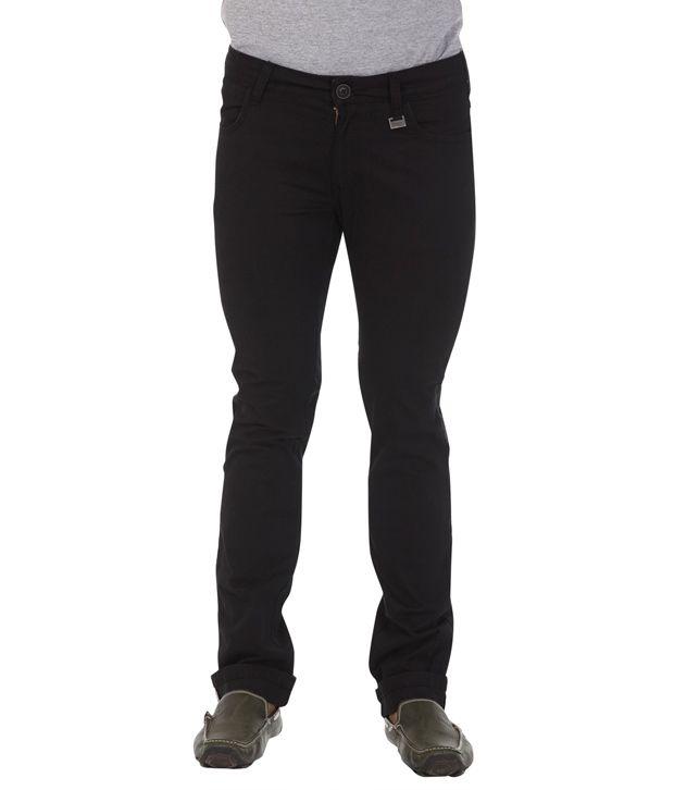 Wrangler Black Cotton Light Wash Jeans