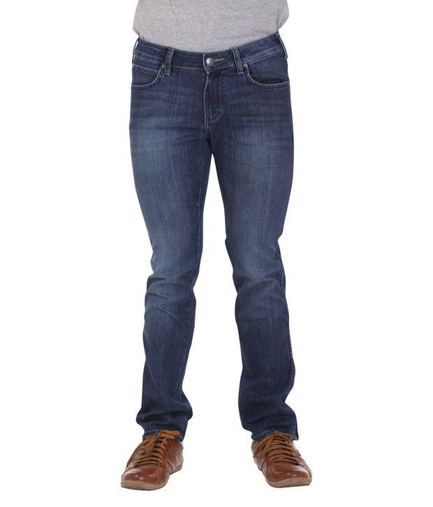 Wrangler Rinse Black Cotton Light Wash Jeans
