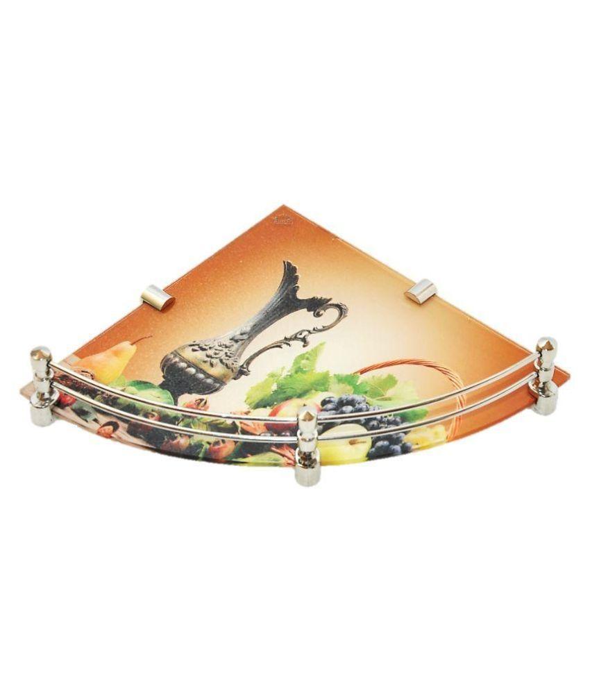 Royal Indian Craft Multicolor Glass Floating Shelf/ Wall Shelf / Storage Shelf/ Decoration Shelf