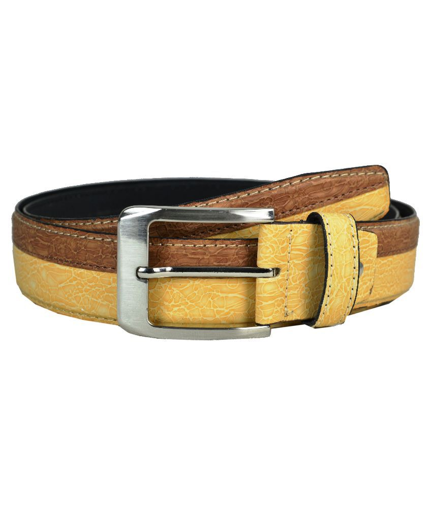 Opaque Multicolor Non Leather Belt