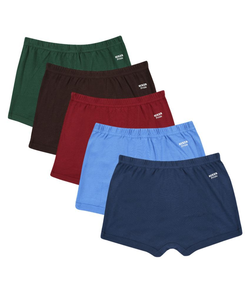 Sixer Multicolor Cotton Innerwear - Pack of 5