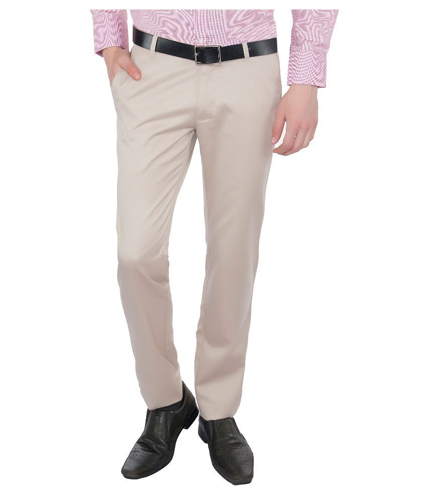 Vimal Off-White Slim Fit Chinos