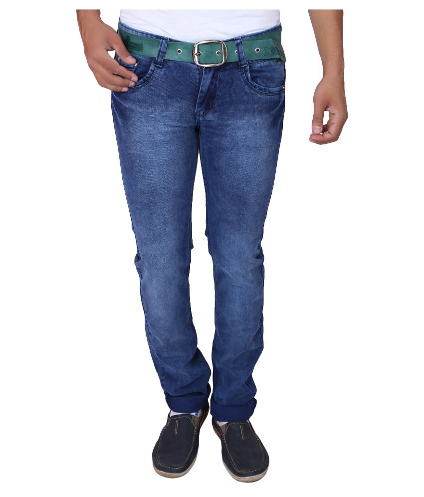 X20 Jeans Blue Regular Fit Washed Jeans