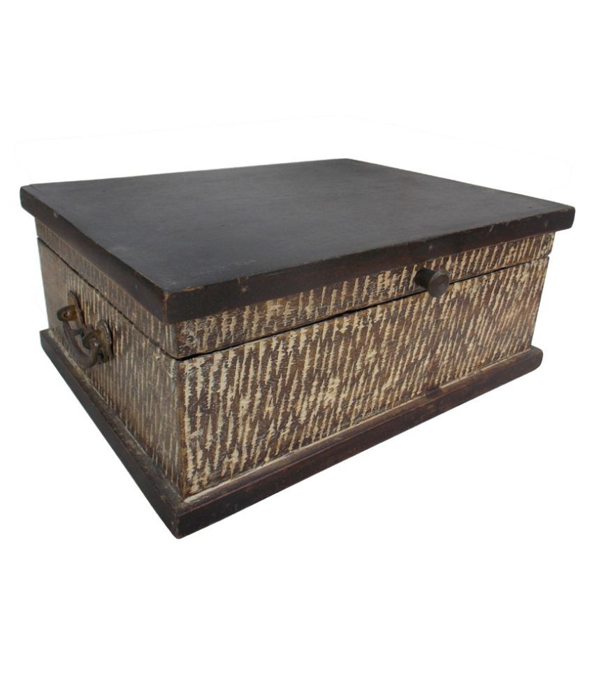 Indune Lifestyle Wood Studded Brown Coloured Jewellery Box