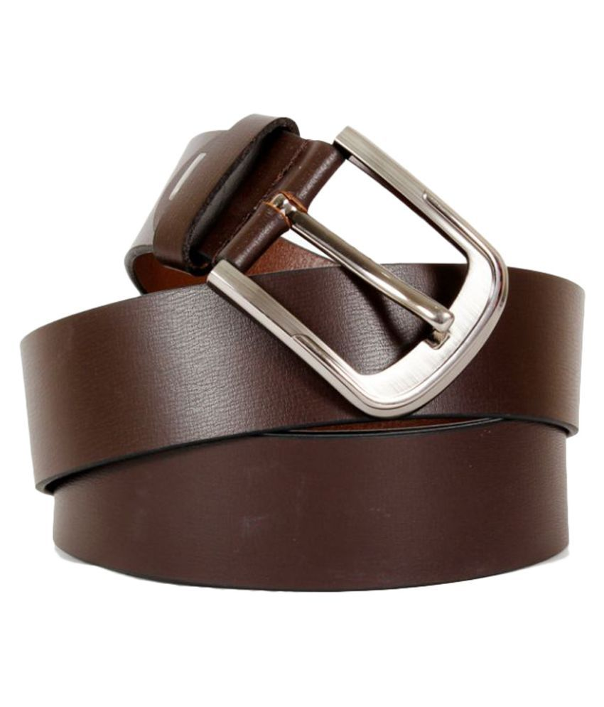 Kelvin Planck Brown Leather Belt for Men