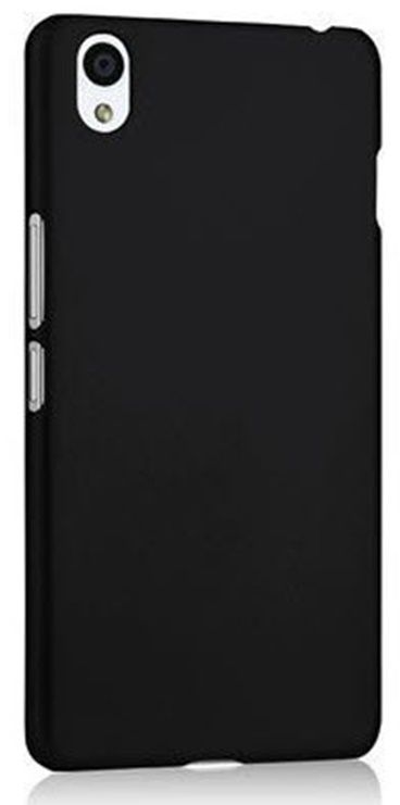 wholesale dealer eac95 ee004 WOW Imagine™ Rubberised Matte Hard Case Back Cover For Oppo F1 Plus - Pitch  Black