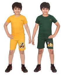 Dongli Multicolor Cotton Night Suit - Pack of 2
