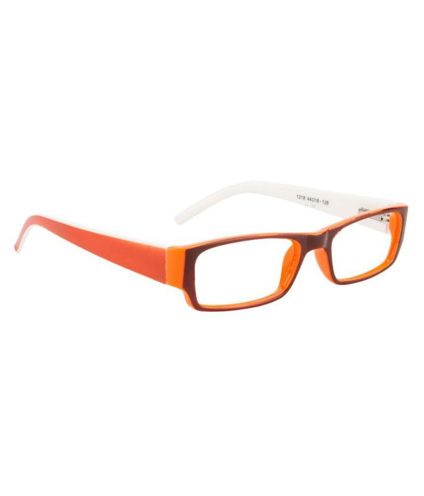 Glitters Orange Rectangle Spectacle Frame ( B1218C5-14 )