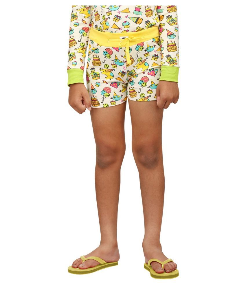 Nuteez Multicolor Cotton Shorts