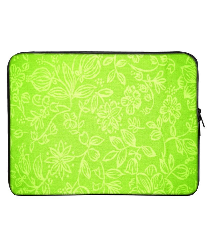 Panda Creation PC_298 Green Polyester Laptop Sleeve