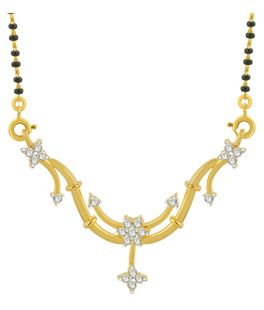 Cygnus 18k Yellow Gold Diamond Mangalsutra