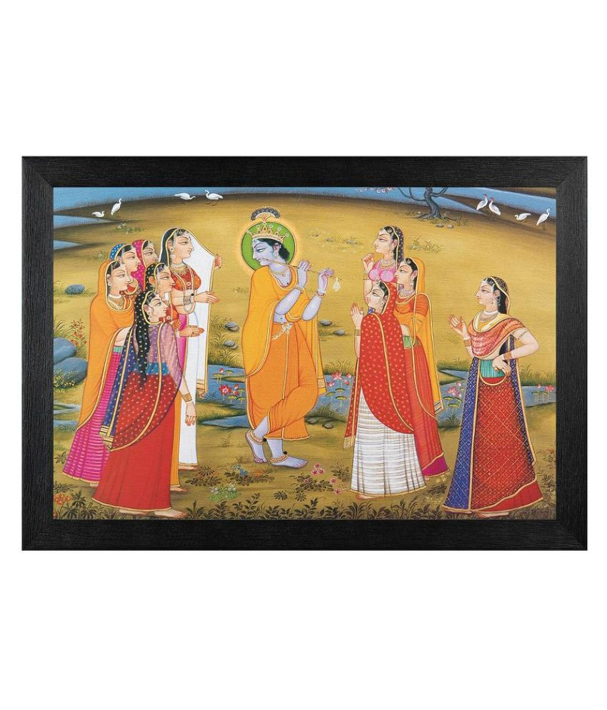 JAF Textured Religious Painting with Wooden Frame